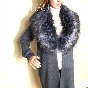 Michael Kors Women's Faux Fur Cardigan Derby